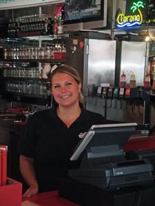 Jen at the register