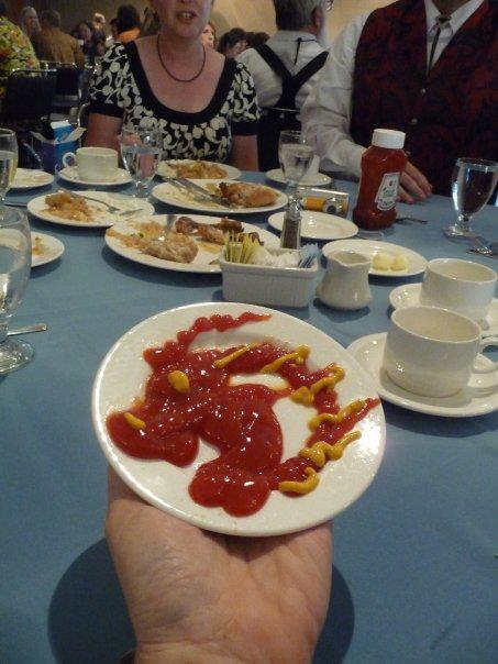 James Owens' ketchup/mustard dragon