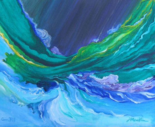Painting of Genesis 7:11 by Lynn Maudlin