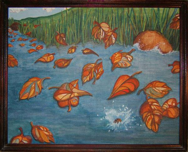 River Leaves by Lynn Maudlin