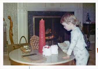 Shannon and candle